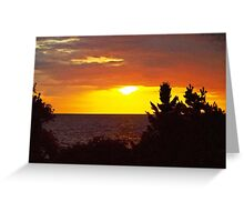 Sunset over Cape Neddick. ME Greeting Card