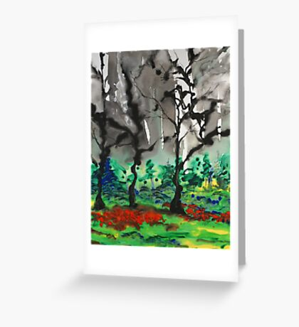 Primary Forest Greeting Card
