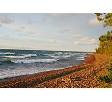 Sunset Bay Rock Beach Photographic Print