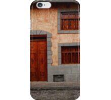 Brown Shuttered Windows and Door iPhone Case/Skin