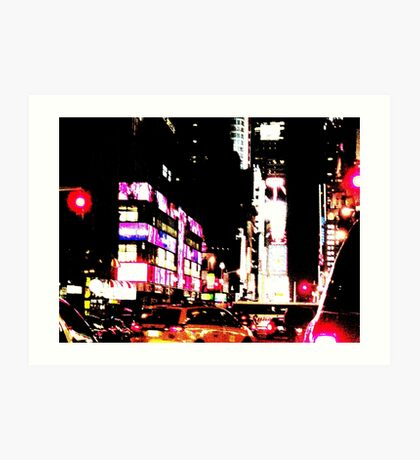 New York City Broadway at night Art Print