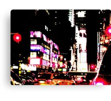 New York City Broadway at night Canvas Print