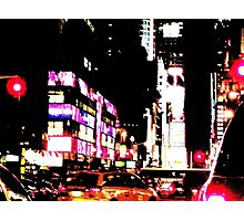 New York City Broadway at night Photographic Print