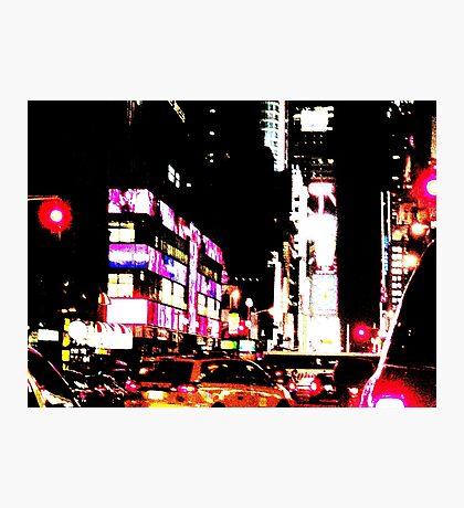 New York City Broadway at night Photographic Print