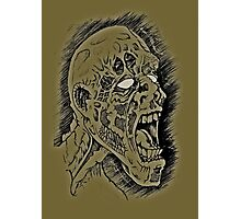 Screaming Zombie Photographic Print