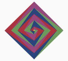 Angled Color Spiral Kids Tee