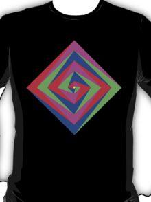 Angled Color Spiral T-Shirt