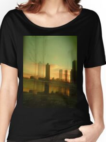 drive by city sunrise Women's Relaxed Fit T-Shirt