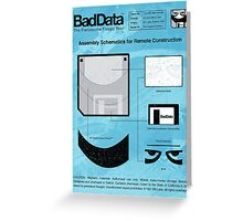 Bad Data: Assembly Instructions (Blue) Greeting Card