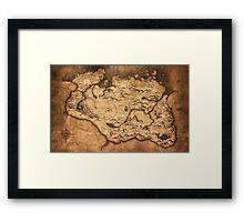 Distressed Maps: Elder Scrolls Skyrim Framed Print