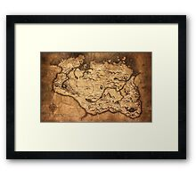 Distressed Maps: Elder Scrolls Skyrim Framed Print