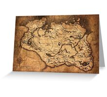 Distressed Maps: Elder Scrolls Skyrim Greeting Card