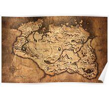 Distressed Maps: Elder Scrolls Skyrim Poster
