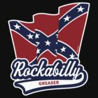 Rockabilly Greaser Flag by MrFaulbaum