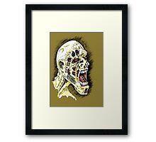 Screaming Zombie - Colourised Framed Print