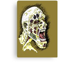 Screaming Zombie - Colourised Canvas Print
