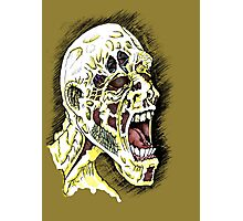 Screaming Zombie - Colourised Photographic Print