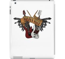 The Music Pitch... Rock'n'Roll and let your guitar, bass and drums rock! (Clear version) iPad Case/Skin