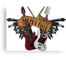 The Music Pitch... Rock'n'Roll and let your guitar, bass and drums rock! (Clear version) Canvas Print