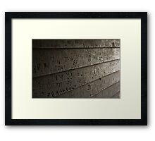 Carved Graffiti Framed Print