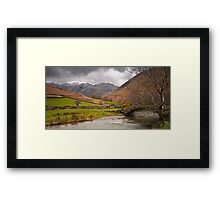 Snowcaps and Storm Clouds Framed Print