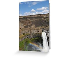 Rainbow Over Palouse Falls, Washington State Greeting Card