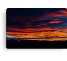 Broncos Sunset Canvas Print