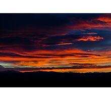 Broncos Sunset Photographic Print