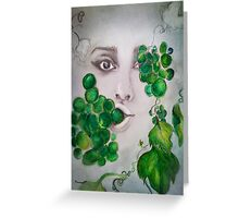 Looking through vines  Greeting Card