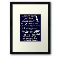 BIG BANG THEORY THEME SONG Framed Print