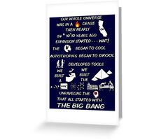 BIG BANG THEORY THEME SONG Greeting Card