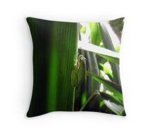Envious Green Throw Pillow