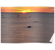 Kettle Point at Sunset. Poster
