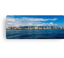 Waikiki Beachfront Canvas Print
