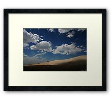 Desert Shadows, Nevada Framed Print