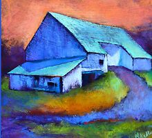 Gauguin's Barn Revisited, from original pastel by Madeleine Kelly by Madeleine Kelly