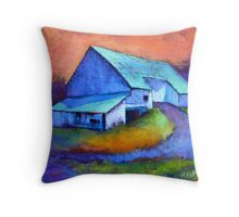 Gauguin's Barn Revisited, from original pastel by Madeleine Kelly Throw Pillow