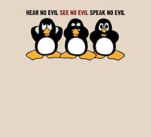 Three Wise Penguins Design Graphic Womens Fitted T-Shirt