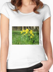 English Native Daffodils Women's Fitted Scoop T-Shirt