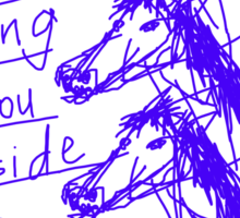 'Angry Horses Await' Sticker