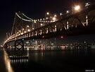 SF Skyline and the Bay Bridge by Night by MattGranz
