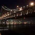 SF Skyline and the Bay Bridge by Night by MattGranz