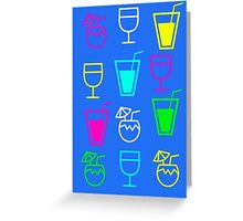 cocktail holiday Greeting Card