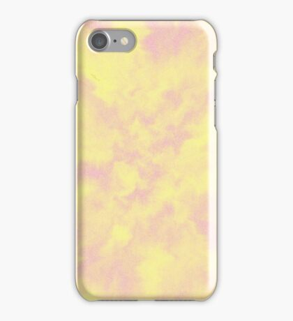Cloudy Pink and Yellow Ripples iPhone Case/Skin