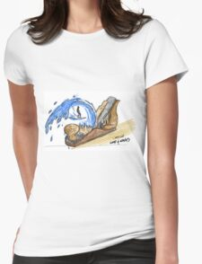 Carving wood and waves  Womens Fitted T-Shirt