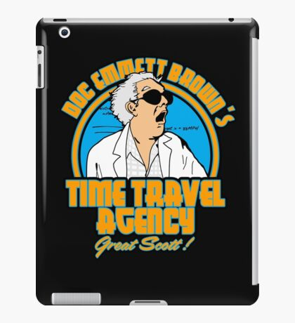 Time travel agency iPad Case/Skin