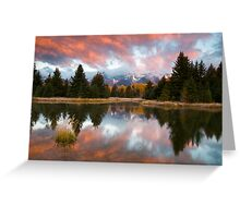 Teton Morning at Schwabachers Landing Greeting Card