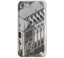 Isometric Infographic Notre Dame de Paris iPhone Case/Skin
