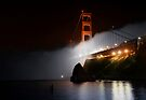 Golden Gate Fog at Night by MattGranz