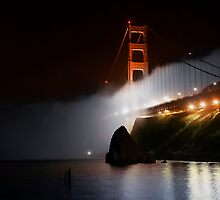 Golden Gate Fog at Night by MattGranz